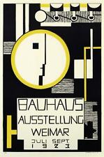 Bauhaus Ausstellung Weimer 1923 Poster Fine Art Lithograph Rudolf Baschant S2