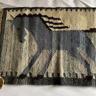 Vintage Handwoven Cepelia Wool Wanda Horse Poland Folk Art Rug Tapestry W/Tags
