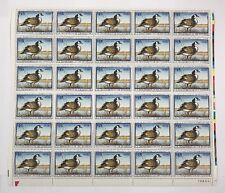 Mint OG USPS Stamp Sheet 1997 Federal Duck Hunting Permit Canada Goose! SRW64-A