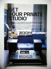 PUBLICITE-ADVERTISING :  ZOOM MultiTrak MRS-1044  05/2002 Enregistreur numérique