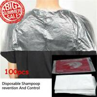 100pcs Disposable Hair Cutting Capes Hairdressing Home Barber Apron Dyeing Tool