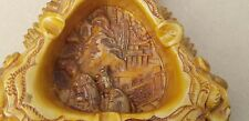 Carved Ashtray Chinese Soapstone?soaprock?Resin?Figures Dragons Ornament RARE