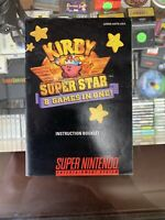 Kirby Super Star Super Nintendo SNES Instruction Manual Booklet ONLY(NO GAME)