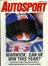 Autosport April 6th 1989 * Toyota Supra Turbo Essai Routier et Derek Warwick interview