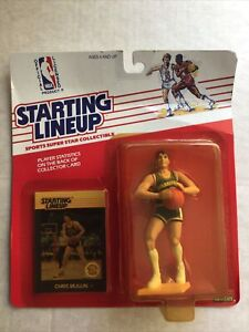 1988 Chris Mullin Starting Lineup. Yellowing Around Bubble.  Figure & Card Gr