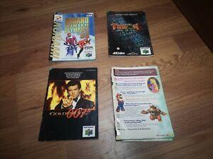 🌟GoldenEye 007, Mario 64, Nagano Olympics, Turok 2, Manuals Nintendo 64 - N64🌟