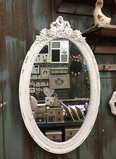 Charmanter Landhaus Holz 64 cm Wandspiegel Spiegel weiß antik Garderobenspiegel