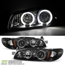Black 1997-2003 Pontiac Grand Prix LED Halo Projector Headlights Lamp Left+Right