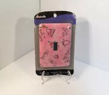 Amerelle Powder Coated Steel Decor Pink Light Wall Switch Plate Tweens Girly