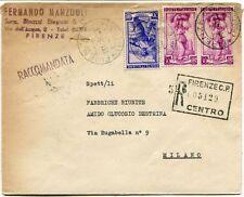 1951 Italia al Lavoro RACCOMANDATA Fernando Manzuoli Binazzi Biagiotti Firenze