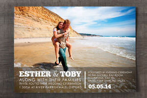 Personalised Engagement Photo Wedding Invitation Suite - 30 50 100 renewal cards