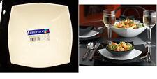 Luminarc Quadrato White Salad Serving Bowl Square Arc Glass dinnerware France