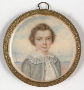 "Mlle Elisa Apollina Deharme ""Portrait of a boy"", from Bernard-Franck collection!"