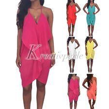 Markenlose Damenkleider mit V-Ausschnitt aus Chiffon
