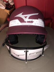 NEW Mizuno F6 Womens Maroon Softball Helmet L/XL