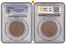 1946 Penny Australia PCGS-AU55 Key Date VERY Scarce Renniks Book Value $1200