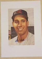 Bob Feller Autographed Litho 1953 Topps Potrait HOF-COA