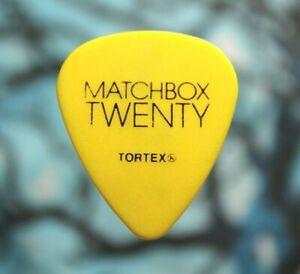 MATCHBOX 20 // Kyle Cook 2013 Tour Guitar Pick // Yellow/Black twenty MB20
