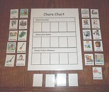 Laminated Chore Chart activity.  Preschool household responsibilities chart.