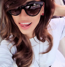 Large Cat Eye Black Gloss Pin Up Model Mohotani Diva Fashion Big Sunglasses 018