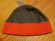 Childrens Place Boys Graystone (gray/orange) Fleece Hat New 4 - 7 years  S/M