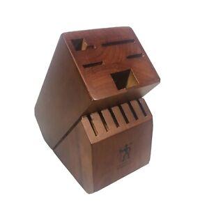 JA Henckels International Wooden Hardwood Knife Block 11 Slot Replacement Holder