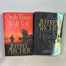 2 Jeffrey Archer Paperback Books bundle  - Only time Will Tell & Heads You Win