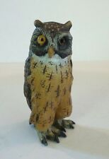 ADORABLE AUSTRIAN BRONZE MINIATURE COLD PAINTED OWL FIGURE / PAPERWEIGHT - AS IS