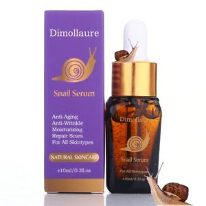 Face Care AntiAging Snail Serum Extract Serum Hyaluronic Acid Damage Skin Repair
