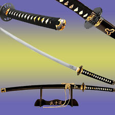 Kill Bill Bride's Sword Replica Movie Katana Lion Engraved Blade w Display Stand