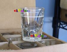 CASE of 12 heavy fluted base white line 2 oz. whiskey shot glasses libbey 5126