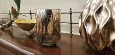 SILVER MULTI COLOR MERCURY GLASS VASE OR CANDLE HOLDER GREAT HOME DECOR!!!