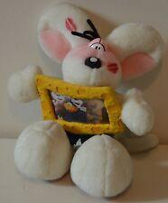 Belle peluche originale vintage souris DIDDL Depesche avec cadre 20 cm