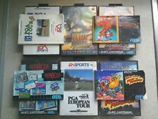 6 x EMPTY BOXES ONLY - For Sega Mega Drive Games (PAL)