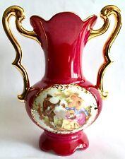 """Vintage mano generosamente oro dorado decorado francés Limoges 6""""/15cm Florero/Urna"""