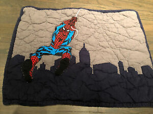 Pottery Barn Kids Quilted Pillow Sham Standard Spiderman