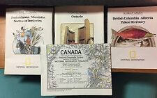 1970'S NATIONAL GEOGRAPHIC MAP'S CANADA LOT OF 4
