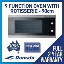 NEW 90cm 9 FUNCTION ELECTRIC FAN FORCED WALL OVEN w ROTISSERIE DESIGNER LOOK