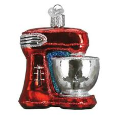 Red Mixer Baking Kitchen Appliance Old World Christmas Glass Ornament Nwt 32270
