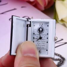 Vintage Black Death Note Pocket Watch Antique Necklace Chain+Extra Batteries