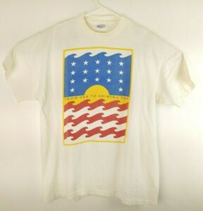 VTG From Sea To Shining Sea Men's Americana White T-shirt Size L 🔥