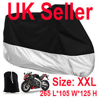 Motorcycle Waterproof Outdoor Vented Motor Bike Scooter Dust Rain Cover 2XL