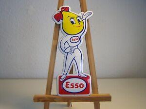Mrs.Drop Esso Frau Vintage Reklame Schild Emaile