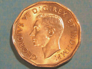 1942 Canada 5 cents  tombac high grade