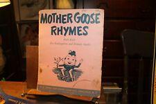1952 Mother Goose Rhymes Ruth Karb for Kindergarten Folder Posters 8 each