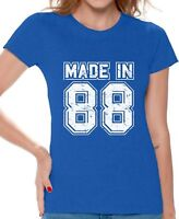 Made in 88 Shirt for Women 30th Birthday Party Shirt 30th Tshirt Born in 1988