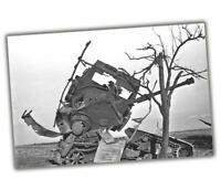 """War Photo Destroyed PzKpfw IV in Normandy, 1944 ww2 Glossy Size """"4 x 6"""" inch α"""