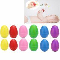 1X(12 Piezas Agitadores de Huevo de Plástico Juego 6, Huevos Maracas Musica 3V1)