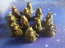 "Doctor Who Dalek Gold Bronze Mini Micro Figure Models 1"" Tall Plastic Figurine"