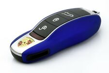 PORSCHE Blue Remote Key Cover Case Skin Shell Cap Fob Protection Hull Trim 991